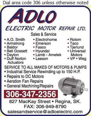 Adlo Electric Motor Repair Ltd - Electric Motors Sales & Service Digital Ad