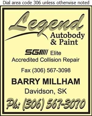 Legend Autobody and Paint - Auto Body Repairing Digital Ad
