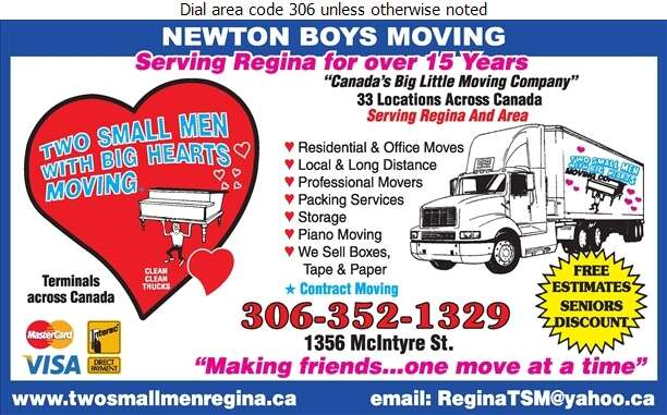 Two Small Men With Big Hearts Moving Ltd - Movers Digital Ad