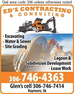 Ed's Contracting & Consulting Ltd - Excavating Contractors Digital Ad
