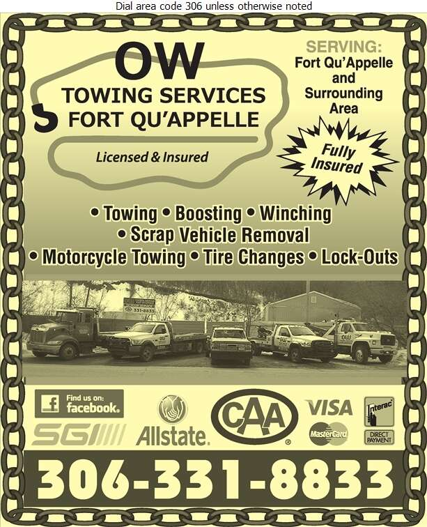 OW Towing Services - Towing & Boosting Service Digital Ad