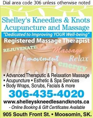 Shelley's Kneedles & Knots Acupuncture and Massage - Massage Therapists Digital Ad