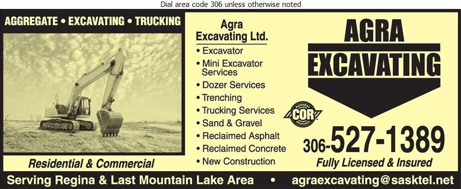 Agra Excavating Ltd - Excavating Contractors Digital Ad