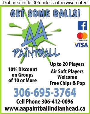 AA Paintball - Paintball Games, Equipment & Supplies Digital Ad