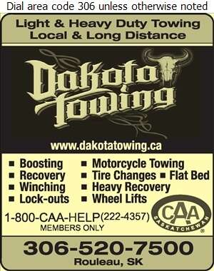 Dakota Towing Ltd - Towing & Boosting Service Digital Ad