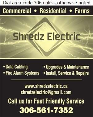 Shredz Electric - Electric Contractors Digital Ad