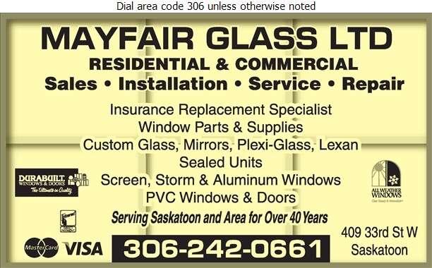 Mayfair Glass Ltd - Windows Digital Ad