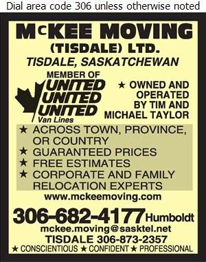 McKee Moving (Tisdale) Ltd - Movers Digital Ad