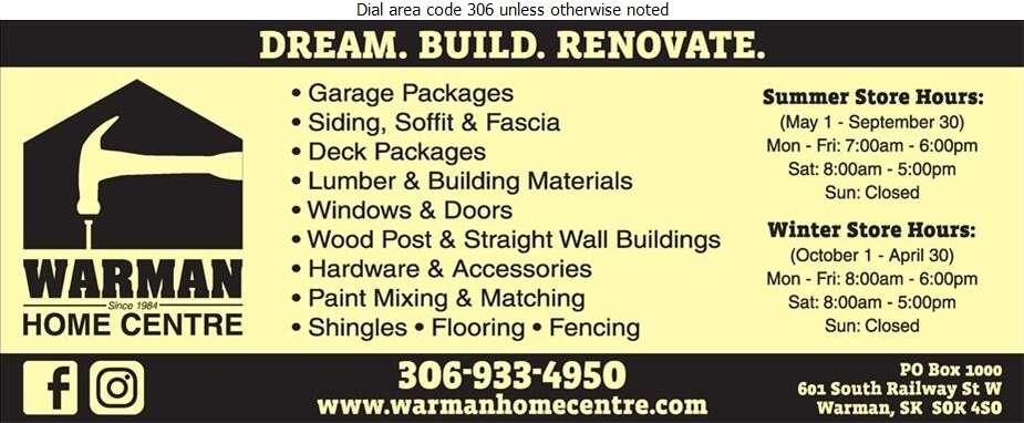 Warman Home Centre - Builders Supplies Retail Digital Ad