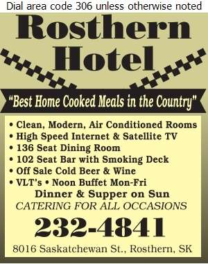 Rosthern Hotel - Hotels Digital Ad