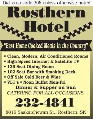 Rosthern Hotel - Hotels Digital Ad