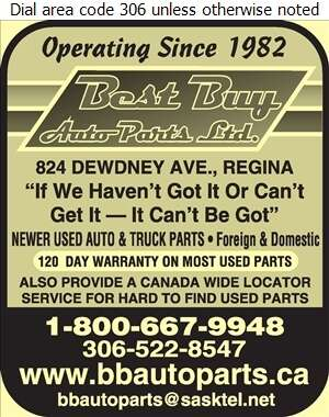 Best Buy Auto Parts Ltd - Auto Wrecking Digital Ad