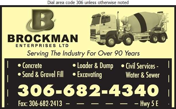 Brockman Enterprises Ltd - Concrete Ready Mixed Digital Ad