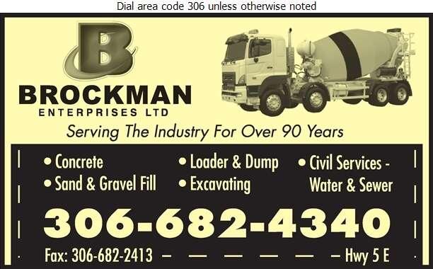 Brockman Enterprises Ltd - Concrete Ready Mixed Digital Ad