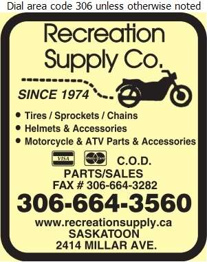 Recreation Supply Co - Motorcycles Digital Ad