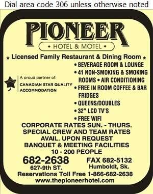 Pioneer Motor Hotel & Motel - Hotels Digital Ad