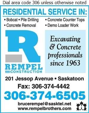 Rempel Bros Construction - Concrete Contractors Digital Ad