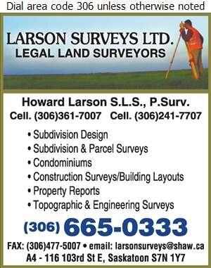 Larson Surveys Ltd - Surveyors Land Digital Ad