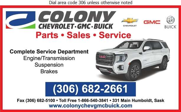 Colony Chevrolet GMC Buick Ltd (Texts Only) - Auto Dealers New Cars Digital Ad
