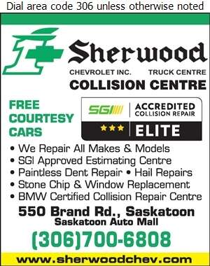 Sherwood Chevrolet Truck Centre (Parts Dept) - Auto Body Repairing Digital Ad