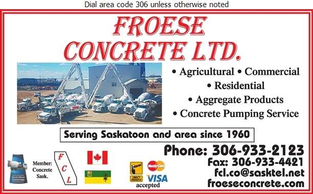 Froese Concrete Ltd - Concrete Ready Mixed Digital Ad