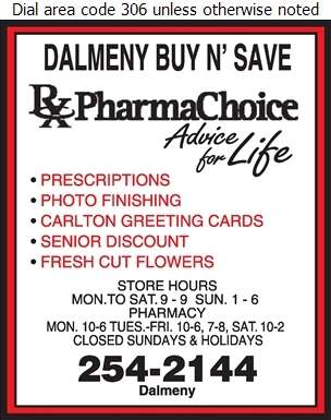 Dalmeny Buy N' Save Drug Mart - Pharmacies Digital Ad
