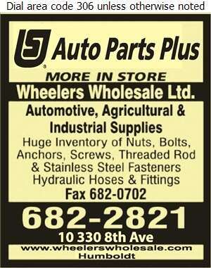 Wheelers Wholesale Ltd (Joyce McCord Res) - Auto Parts & Supplies Retail Digital Ad