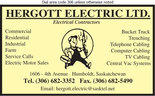 Hergott Electric - Electric Contractors Digital Ad