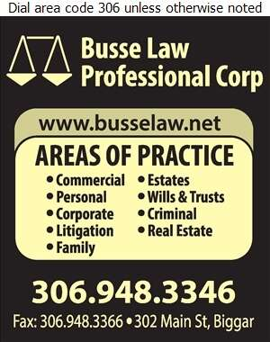 Busse Law Professional Corp (Fax) - Lawyers Digital Ad