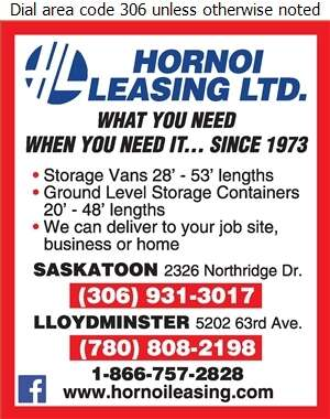 Hornoi Leasing Ltd - Rental Service General Digital Ad