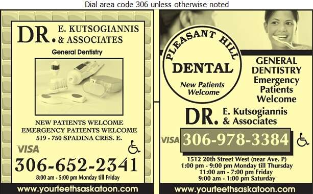 Kutsogiannis E Dr - Dentists Digital Ad
