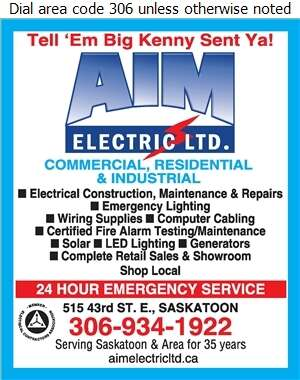 AIM Electric Ltd (After Hours Emergency Service) - Electric Contractors Digital Ad