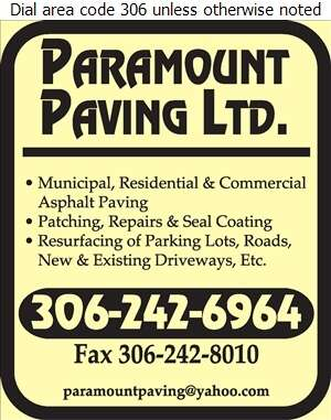 Paramount Paving Ltd - Paving Contractors Digital Ad