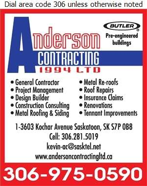 Anderson B+Contracting Ltd - Contractors General Digital Ad
