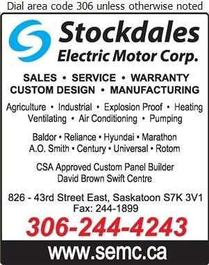 Stockdales Electric Motor Corp - Electric Motors Sales & Service Digital Ad