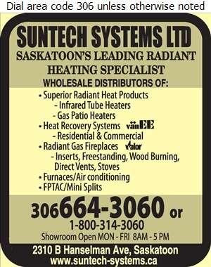 Suntech Systems Ltd - Heating Equipment & Systems Digital Ad