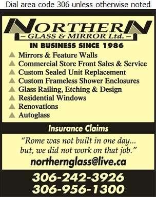 Northern Glass & Mirror Ltd - Glass Auto, Float, Plate, Window Etc Digital Ad