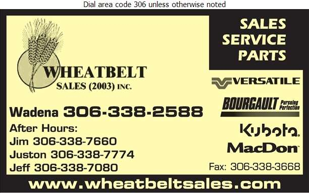 Wheatbelt Sales (2003) Inc - Agricultural Implements Sales, Service & Parts Digital Ad
