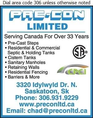 Pre-Con Ltd - Concrete Products Digital Ad