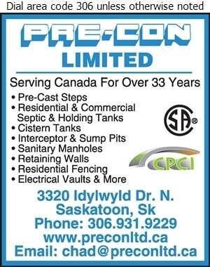 Pre-Con Ltd - Septic Tanks Sales & Service Digital Ad