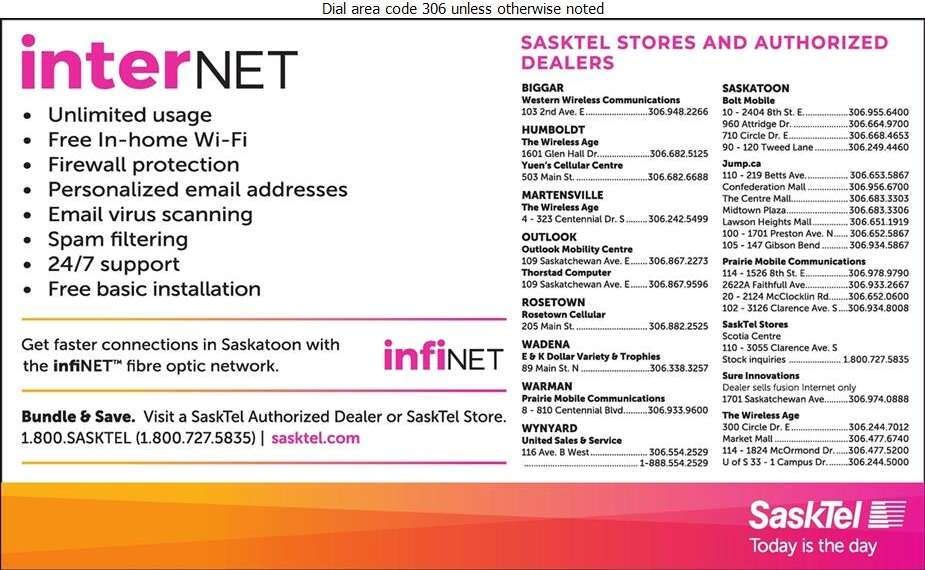 SaskTel Internet - Internet Products & Services Digital Ad