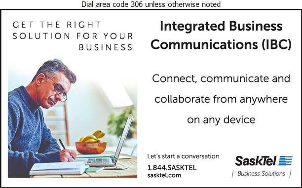 SaskTel Business Solutions - Telephone Companies Digital Ad
