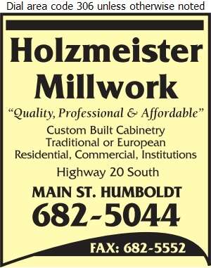 Holzmeister Millwork - Cabinet Makers Digital Ad