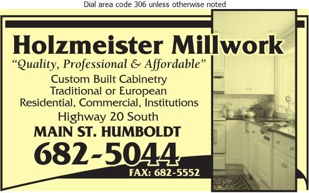 Holzmeister Millwork - Kitchen Cabinets & Equipment Digital Ad