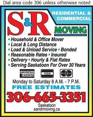 S & R Moving - Movers Digital Ad