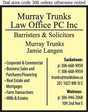 Trunks Murray Law Office PC Inc - Lawyers Digital Ad