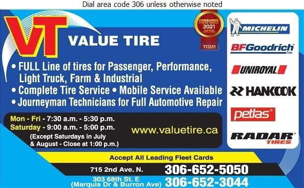Value Tire - Tire Dealers Retail Digital Ad