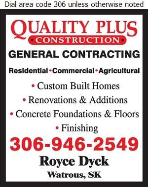 Quality Plus Construction - Contractors General Digital Ad