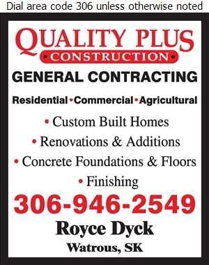 Quality Plus Construction - Contractors General Digital Ad