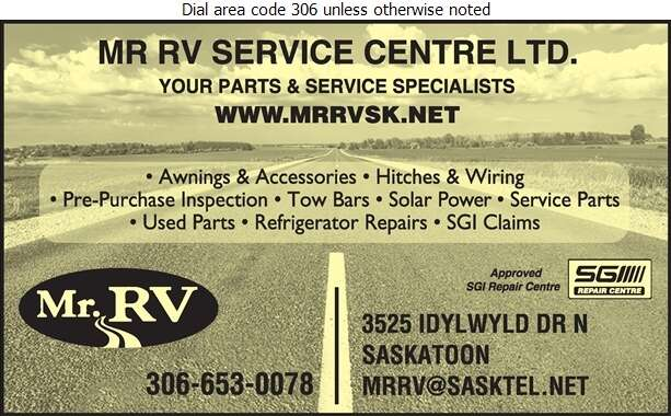 Mr RV Service Centre Ltd - Recreation Vehicles Digital Ad